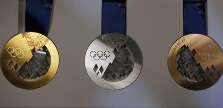 Medailový komplet zoh 2014 v soči, foto sita/ap (dmitrij loveckij)