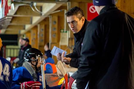 Tréner družstva SR 15 Roman Sýkora počas novembrového celorepublikového výberu